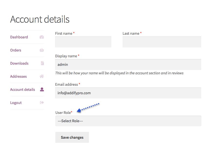 WooCommerce Kayıt Eklentisi seçtiğiniz Kullanıcı Rolleri WordPress - 2