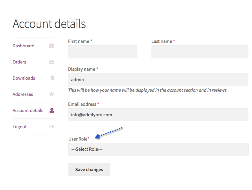 WooCommerce WordPress Choose User Roles at Registration Plugin - 2